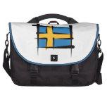 Sweden Brush Flag Laptop Messenger Bag
