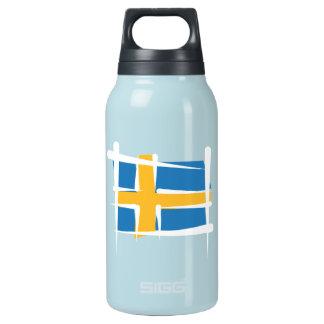 Sweden Brush Flag Thermos Bottle