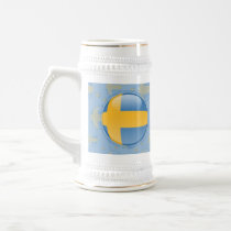 Sweden Bubble Flag Beer Stein