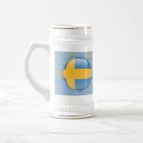 Sweden Bubble Flag Beer Stein