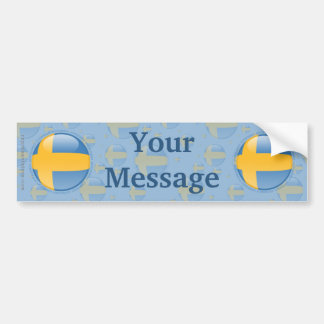 Sweden Bubble Flag Bumper Sticker