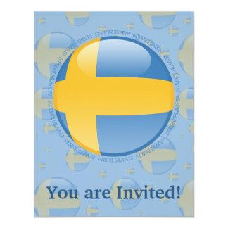 Sweden Bubble Flag Card