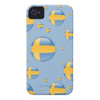 Sweden Bubble Flag Case-Mate iPhone 4 Cases