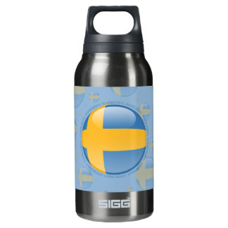 Sweden Bubble Flag Insulated Water Bottle