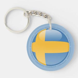 Sweden Bubble Flag Keychain
