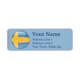 Sweden Bubble Flag Labels