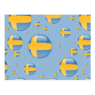 Sweden Bubble Flag Postcard