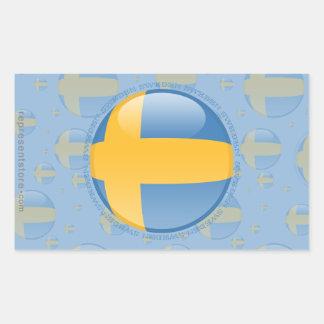 Sweden Bubble Flag Rectangular Sticker