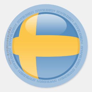 Sweden Bubble Flag Classic Round Sticker