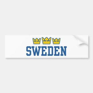 Sweden Car Bumper Sticker