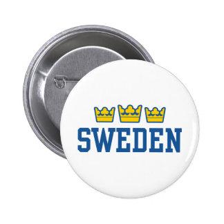Sweden Pinback Button