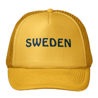 Sweden cap trucker hat