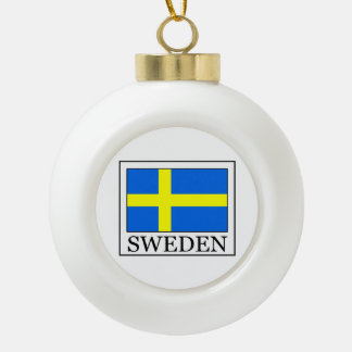 Sweden Ceramic Ball Christmas Ornament