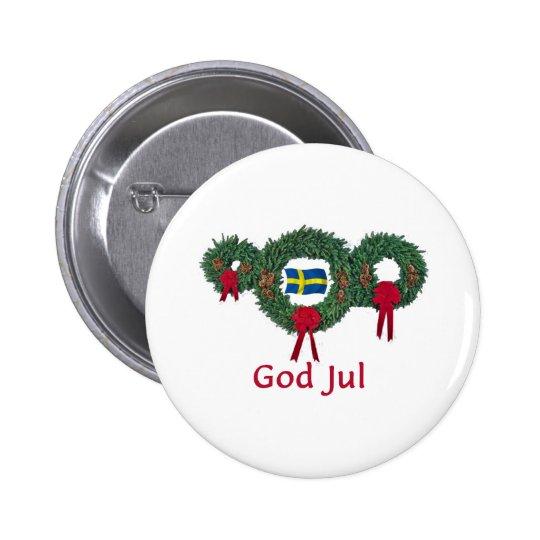 Sweden Christmas 2 Button