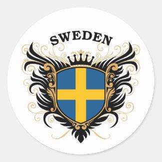 Sweden Classic Round Sticker