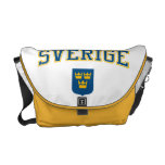 Sweden + Coat of Arms Courier Bags