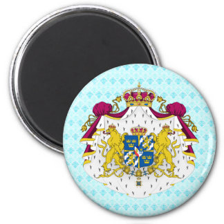 Sweden Coat of Arms detail 2 Inch Round Magnet