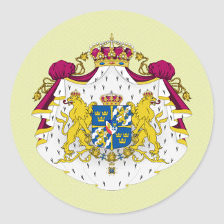 Sweden Coat of Arms detail Round Stickers