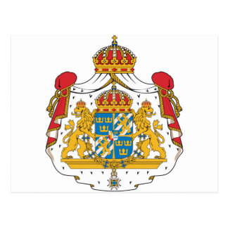 Sweden Coat Of Arms Postcard
