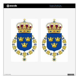 Sweden Coat of Arms Decal For Kindle Fire