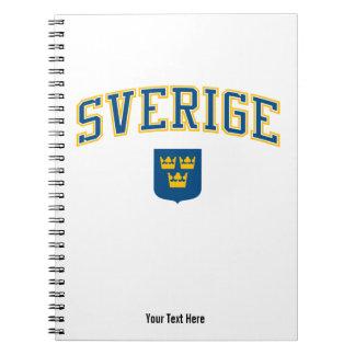 Sweden + Coat of Arms Spiral Notebook