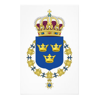 Sweden Coat of Arms Customized Stationery
