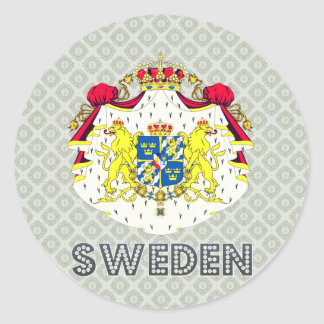 Sweden Coat of Arms Sticker