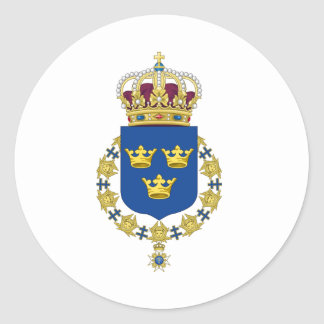 Sweden Coat of Arms Round Stickers