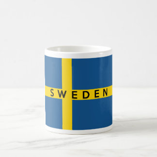 sweden country flag symbol name text classic white coffee mug