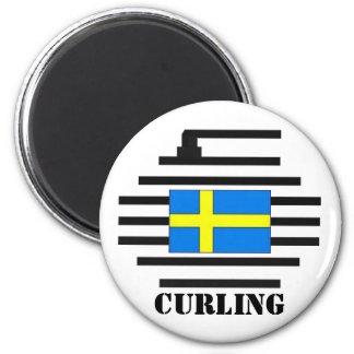 Sweden Curling Magnet