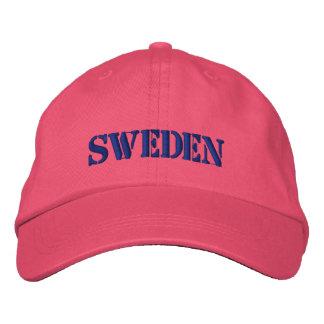 SWEDEN CUSTOM EMBROIDERED BASEBALL CAP