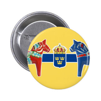 Sweden Dala Coat of Arms 2 Inch Round Button