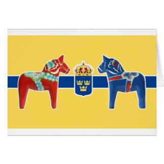 Sweden Dala Coat of Arms Card