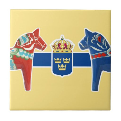 Sweden Dala Coat of Arms Ceramic Tile
