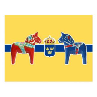 Sweden Dala Coat of Arms Postcard