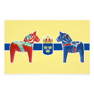 Sweden Dala Coat of Arms Stationery Design