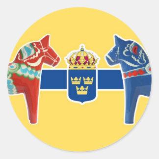 Sweden Dala Coat of Arms Sticker