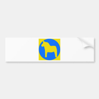 Sweden Dala Horse Bumper Stickers