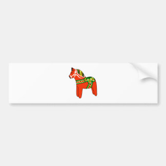 Sweden Dala Horse Bumper Sticker