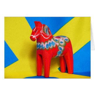 Sweden Dala Horse Card