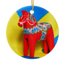 Sweden Dala Horse Ceramic Ornament