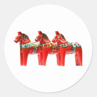 Sweden Dala Horse Classic Round Sticker