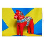 Sweden Dala Horse Greeting Card