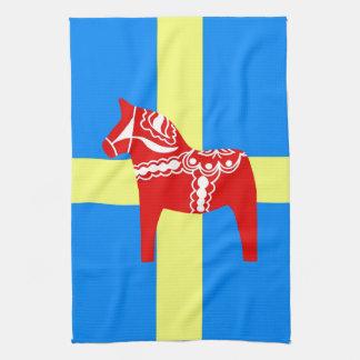 Sweden Dala Horse Kitchen Towel