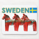 Sweden Dala Horse Mouse Pad