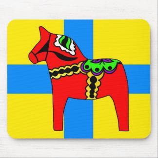 Sweden Dala Horse Mouse Pad