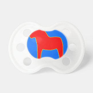 Sweden Dala Horse Baby Pacifier