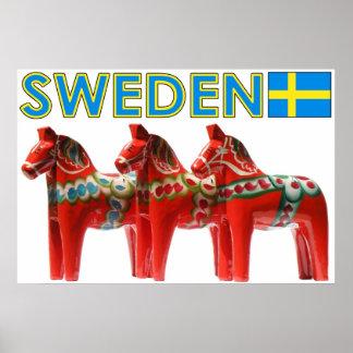 Sweden Dala Horse Poster
