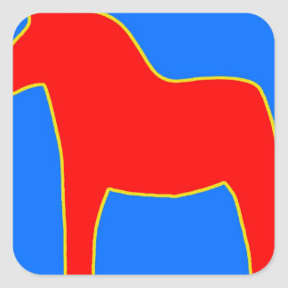 Sweden Dala Horse Square Sticker