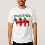 Sweden Dala Horse Tee Shirt